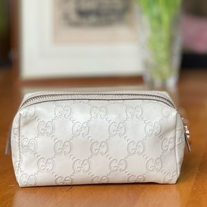 Gucci Leather Cosmetic Makeup Pouch
